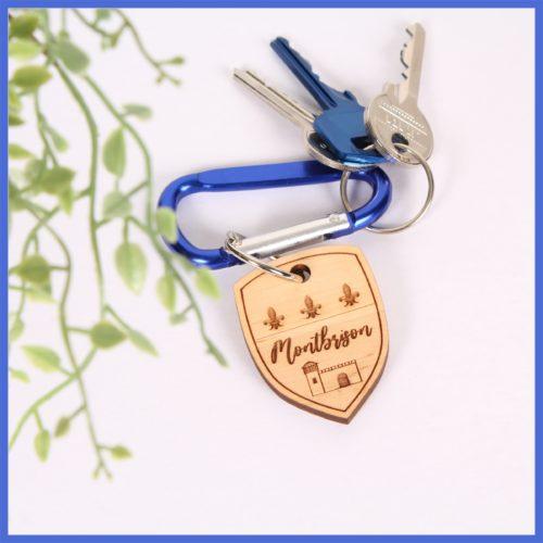 Porte clés bois - Blason Montbrison