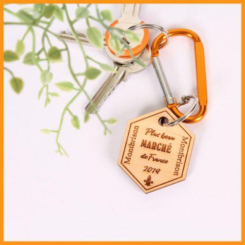 Porte clés Bois - Le plus beau marché de France
